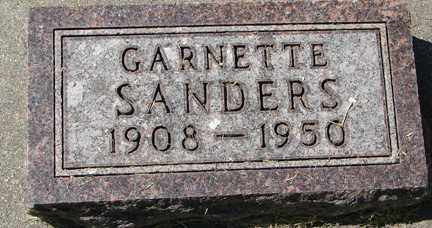 SANDERS, GARNETTE - Minnehaha County, South Dakota | GARNETTE SANDERS - South Dakota Gravestone Photos