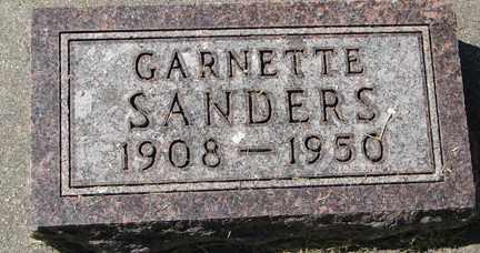SANDERS, GARNETTE - Minnehaha County, South Dakota | GARNETTE SANDERS - South Dakota Gravestone Photos