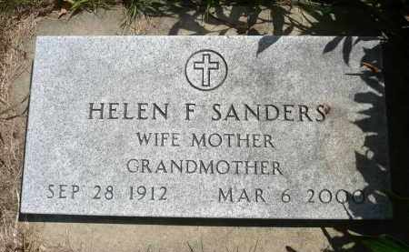 SANDERS, HELEN F. - Minnehaha County, South Dakota | HELEN F. SANDERS - South Dakota Gravestone Photos