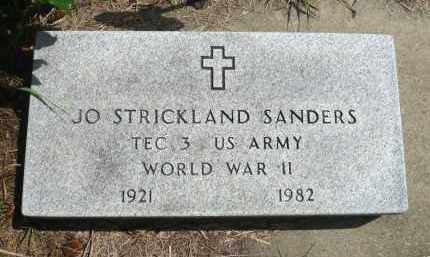 SANDERS, JO STRICKLAND - Minnehaha County, South Dakota   JO STRICKLAND SANDERS - South Dakota Gravestone Photos