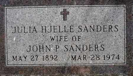 SANDERS, JULIA HJELLE - Minnehaha County, South Dakota   JULIA HJELLE SANDERS - South Dakota Gravestone Photos