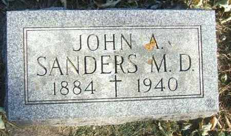 SANDERS, JOHN A. M.D. - Minnehaha County, South Dakota   JOHN A. M.D. SANDERS - South Dakota Gravestone Photos