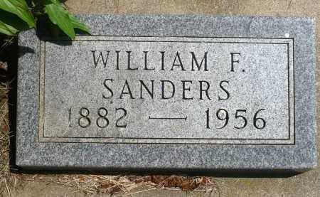 SANDERS, WILLIAM F. - Minnehaha County, South Dakota | WILLIAM F. SANDERS - South Dakota Gravestone Photos