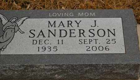 SANDERSON, MARY J. - Minnehaha County, South Dakota | MARY J. SANDERSON - South Dakota Gravestone Photos