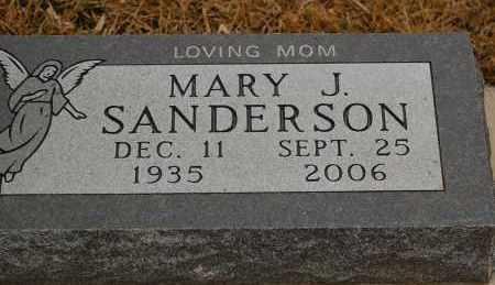SANDERSON, MARY J. - Minnehaha County, South Dakota   MARY J. SANDERSON - South Dakota Gravestone Photos