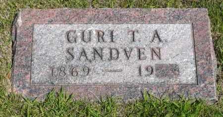SANDVEN, GURI T.A. - Minnehaha County, South Dakota   GURI T.A. SANDVEN - South Dakota Gravestone Photos