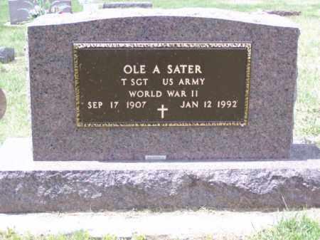 SATER, OLE A. - Minnehaha County, South Dakota | OLE A. SATER - South Dakota Gravestone Photos