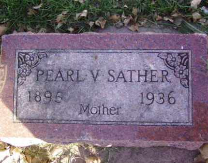 SATHER, PEARL V. - Minnehaha County, South Dakota | PEARL V. SATHER - South Dakota Gravestone Photos