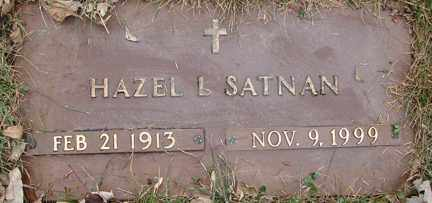 SATNAN, HAZEL L. - Minnehaha County, South Dakota | HAZEL L. SATNAN - South Dakota Gravestone Photos