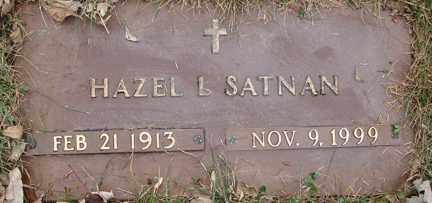 SATNAN, HAZEL L. - Minnehaha County, South Dakota   HAZEL L. SATNAN - South Dakota Gravestone Photos