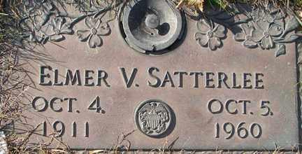 SATTERLEE, ELMER V. - Minnehaha County, South Dakota   ELMER V. SATTERLEE - South Dakota Gravestone Photos