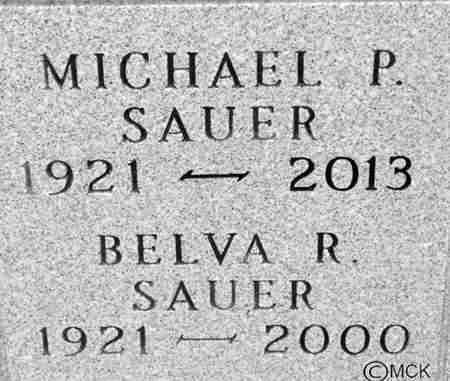 SAUER, BELVA R. - Minnehaha County, South Dakota | BELVA R. SAUER - South Dakota Gravestone Photos