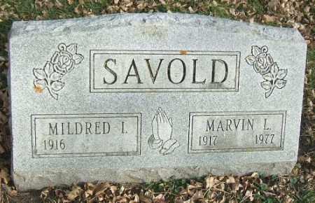 SAVOLD, MILDRED I. - Minnehaha County, South Dakota | MILDRED I. SAVOLD - South Dakota Gravestone Photos