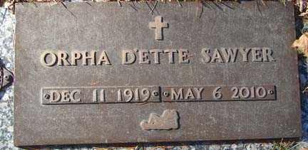 CROSS SAWYER, ORPHA D'ETTE - Minnehaha County, South Dakota | ORPHA D'ETTE CROSS SAWYER - South Dakota Gravestone Photos