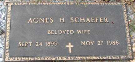 SCHAEFER, AGNES H. - Minnehaha County, South Dakota | AGNES H. SCHAEFER - South Dakota Gravestone Photos