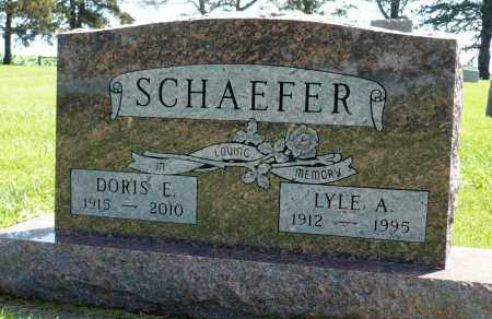 SCHAEFER, DORIS E. - Minnehaha County, South Dakota | DORIS E. SCHAEFER - South Dakota Gravestone Photos