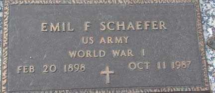 SCHAEFER, EMIL F. - Minnehaha County, South Dakota | EMIL F. SCHAEFER - South Dakota Gravestone Photos