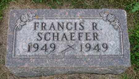 SCHAEFER, FRANCIS R. - Minnehaha County, South Dakota | FRANCIS R. SCHAEFER - South Dakota Gravestone Photos