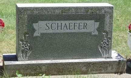 SCHAEFER, FAMILY HEADSTONE - Minnehaha County, South Dakota   FAMILY HEADSTONE SCHAEFER - South Dakota Gravestone Photos