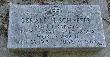 SCHAEFER, GERALD H. - Minnehaha County, South Dakota | GERALD H. SCHAEFER - South Dakota Gravestone Photos