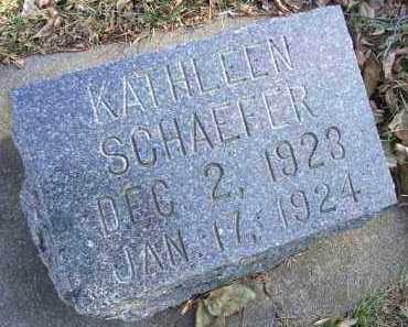 SCHAEFER, KATHLEEN - Minnehaha County, South Dakota | KATHLEEN SCHAEFER - South Dakota Gravestone Photos