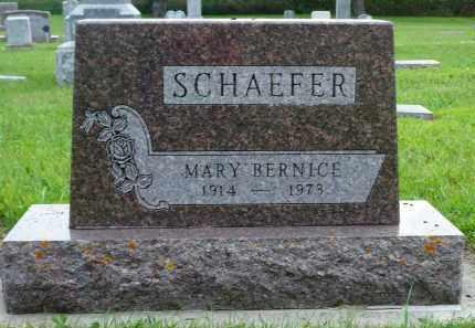 SCHAEFER, MARY BERNICE - Minnehaha County, South Dakota   MARY BERNICE SCHAEFER - South Dakota Gravestone Photos