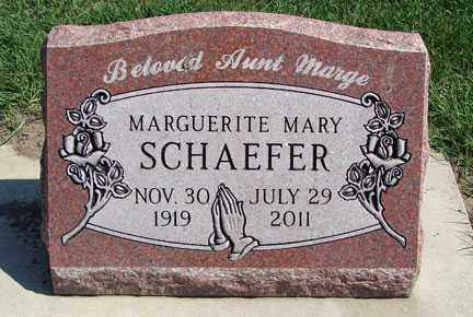SCHAEFER, MARGUERITE MARY - Minnehaha County, South Dakota | MARGUERITE MARY SCHAEFER - South Dakota Gravestone Photos