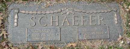 SCHAEFER, RICHARD EMIL - Minnehaha County, South Dakota | RICHARD EMIL SCHAEFER - South Dakota Gravestone Photos