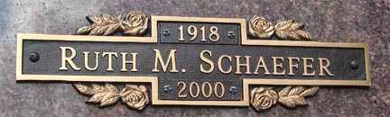 SCHAEFER, RUTH M. - Minnehaha County, South Dakota | RUTH M. SCHAEFER - South Dakota Gravestone Photos