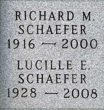 SCHAEFER, LUCILLE E. - Minnehaha County, South Dakota | LUCILLE E. SCHAEFER - South Dakota Gravestone Photos