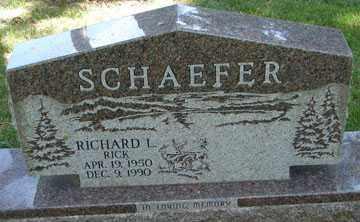 "SCHAEFER, RICHARD LEE ""RICK"" - Minnehaha County, South Dakota   RICHARD LEE ""RICK"" SCHAEFER - South Dakota Gravestone Photos"