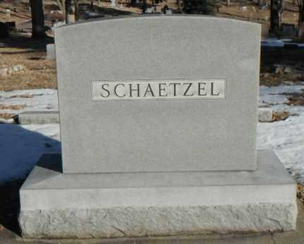 SCHAETZEL, FAMILY STONE - Minnehaha County, South Dakota | FAMILY STONE SCHAETZEL - South Dakota Gravestone Photos