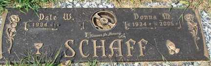 SCHAFF, DALE W. - Minnehaha County, South Dakota | DALE W. SCHAFF - South Dakota Gravestone Photos