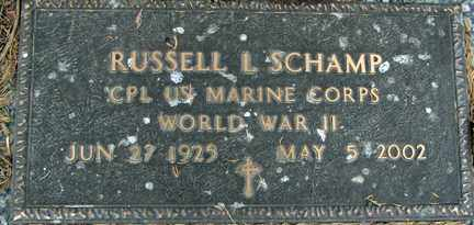SCHAMP, RUSSELL L. (WWII) - Minnehaha County, South Dakota   RUSSELL L. (WWII) SCHAMP - South Dakota Gravestone Photos