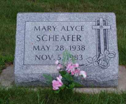 SCHEAFER, MARY ALYCE - Minnehaha County, South Dakota | MARY ALYCE SCHEAFER - South Dakota Gravestone Photos