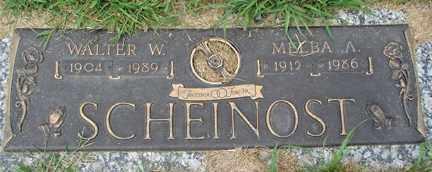SCHEINOST, WALTER W. - Minnehaha County, South Dakota | WALTER W. SCHEINOST - South Dakota Gravestone Photos