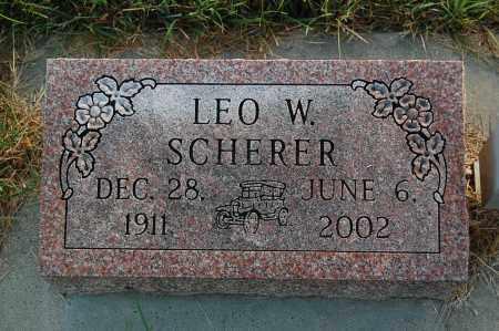 SCHERER, LEO W. - Minnehaha County, South Dakota   LEO W. SCHERER - South Dakota Gravestone Photos