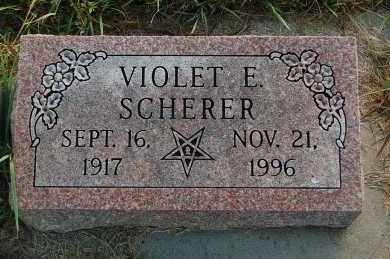 SCHERER, VIOLET E. - Minnehaha County, South Dakota | VIOLET E. SCHERER - South Dakota Gravestone Photos