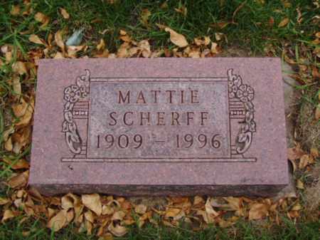 SCHERFF, MATTIE - Minnehaha County, South Dakota | MATTIE SCHERFF - South Dakota Gravestone Photos