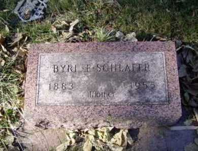 SCHLAFER, BYRL E. - Minnehaha County, South Dakota | BYRL E. SCHLAFER - South Dakota Gravestone Photos