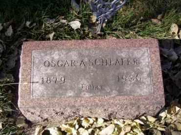SCHLAFER, OSCAR A. - Minnehaha County, South Dakota | OSCAR A. SCHLAFER - South Dakota Gravestone Photos