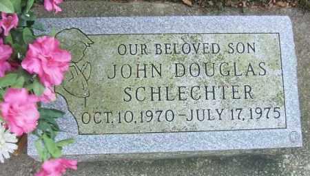 SCHLECHTER, JOHN DOUGLAS - Minnehaha County, South Dakota   JOHN DOUGLAS SCHLECHTER - South Dakota Gravestone Photos