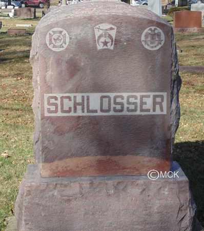 SCHLOSSER, HEADSTONE - Minnehaha County, South Dakota   HEADSTONE SCHLOSSER - South Dakota Gravestone Photos