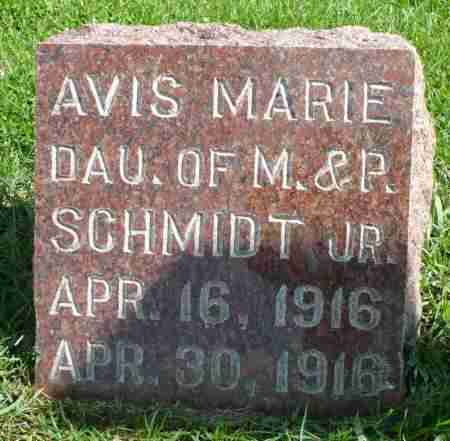 SCHMIDT, AVIS MARIE - Minnehaha County, South Dakota | AVIS MARIE SCHMIDT - South Dakota Gravestone Photos