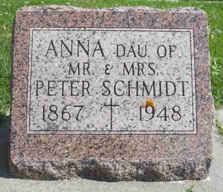 SCHMIDT, ANNA - Minnehaha County, South Dakota | ANNA SCHMIDT - South Dakota Gravestone Photos