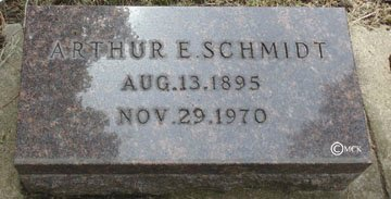 SCHMIDT, ARTHUR E. - Minnehaha County, South Dakota | ARTHUR E. SCHMIDT - South Dakota Gravestone Photos