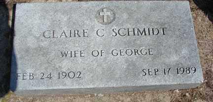 SCHMIDT, CLAIRE C. - Minnehaha County, South Dakota | CLAIRE C. SCHMIDT - South Dakota Gravestone Photos