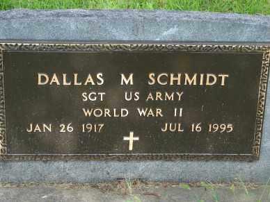 SCHMIDT, DALLAS M - Minnehaha County, South Dakota | DALLAS M SCHMIDT - South Dakota Gravestone Photos