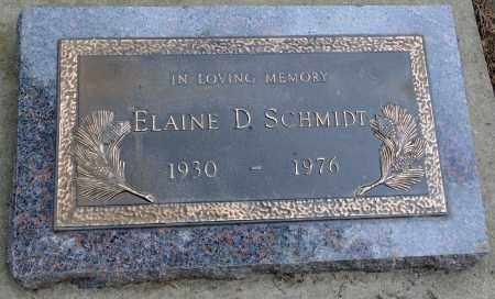 SCHMIDT, ELAINE D. - Minnehaha County, South Dakota | ELAINE D. SCHMIDT - South Dakota Gravestone Photos