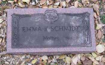 SCHMIDT, EMMA K. - Minnehaha County, South Dakota   EMMA K. SCHMIDT - South Dakota Gravestone Photos